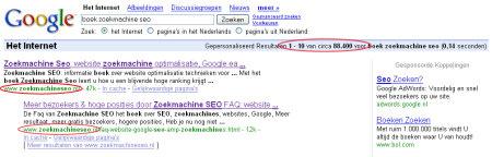 Haal ook hoge posities in google met het zoekmachine SEO boek